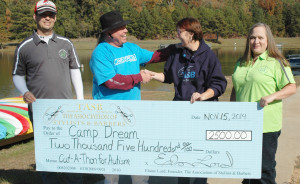Camp Dream Big Check, TASB, Elaine Lord